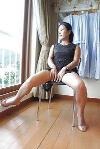 Asian women in heels, boots and pantyhose 2