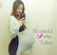 Pregnant korean woman