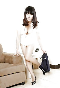 Asian women in heels, boots and pantyhose 3