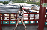 Korean women flashing in public
