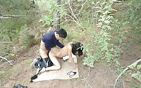 Chinese woman outdoor fuck
