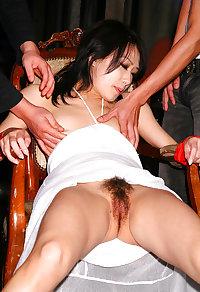 Japanese wedding guest gangbang creampie