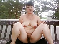 Busty Asian Wife Shameless Public Nude