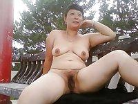 Busty Asian Wife Shameless Public Nude