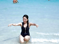 My visit to the beach (Beautiful Asians with Hairy Armpits)