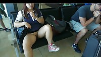 Chinese Wife Flash in public